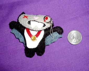 Vampire Zombie Felt Miniature Doll