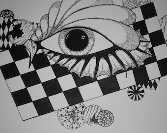 Dotwork eye piece (print)