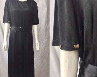 1930s dress with brass butterflies