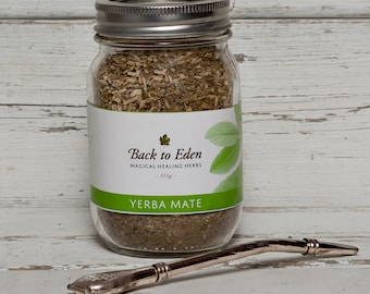 YERBA MATE SET Bombilla / Stainless Steel Tea Filter Straw + Loose Leaf Yerbe Mate Tea