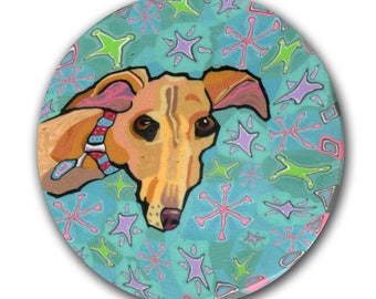 Laylmcdill Greyhound Whippet Galgo Polymer Clay Cane Silly Milly Millefiore
