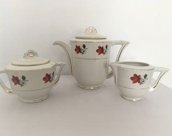 set service Coffee Mill from the 50's Wolf porcelain