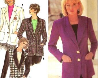 Simplicity 8036 Misses/ Miss Petite Lined Blazer pattern, Size 12-16, UNCUT