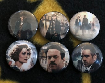 Fantastic Beasts Pinback Buttons 1'