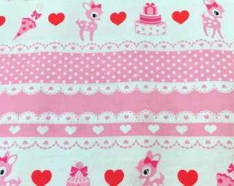 """Oh Deer OFF WHITE 100% Cotton ~ 42"""" Wide ~ Sold by the Yard"""