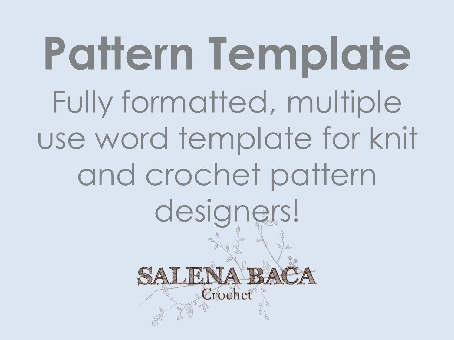 Pattern Template Document with Cheat Sheet Fully Formatted for