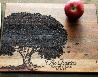 Personalized Cutting Board, Custom Cutting Board, Engraved Family Tree Cutting Board, Anniversary Gift, Mothers Day Gift, Housewarming