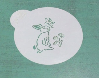 Cookie stencil- bunny butterfly
