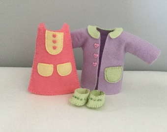 Gingermelon dolls clothes. To fit My Felt Doll.