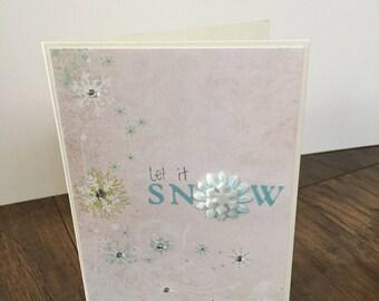 Handmade card Let it Snow