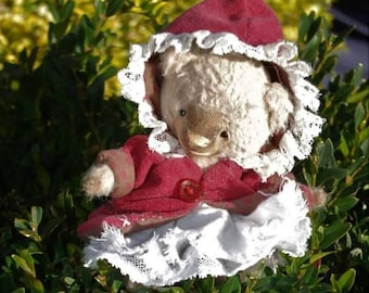 Noëlle - Artist bear, collectible bear, vintage toy, Christmas gift