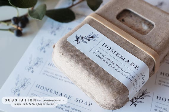 Beautiful Hausgemachte Seife Aufkleber Handgefertigt Seife Machen