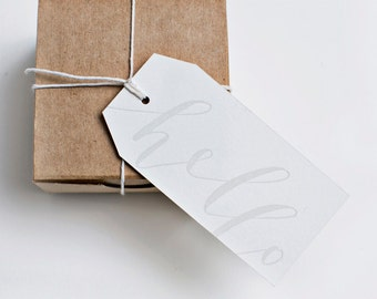 hello gift tags [gray]