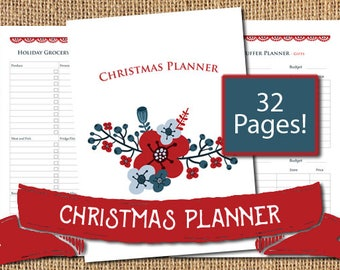Christmas Planner Printable,Holiday Planner Printable,Christmas Planner Inserts,Christmas Organizer,Binder Inserts,Party Planner,Floral,Plan
