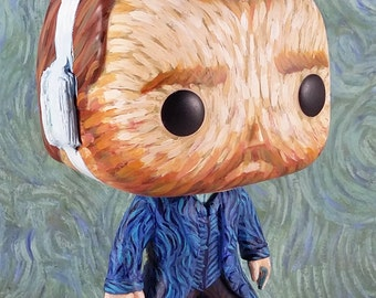 Vincent van Gogh custom Funko Pop Vinyl Figurine Art Toy with Starry Night jacket