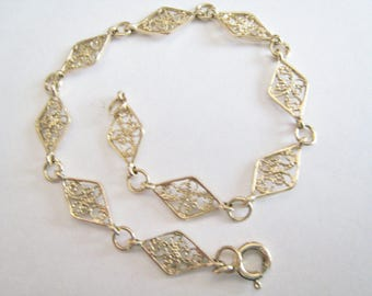 Sterling Filigree Bracelet