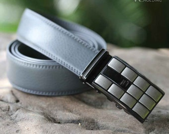 geometric modeling mens waist belts luxury automatic buckle,wristband for men