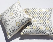 Cotton Honeycomb pillow cover SET . 17x17 inch covers.