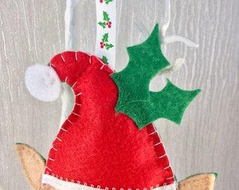 Christmas elf, Christmas decoration, Bauble, Elf, Felt decoration, Tree decor, Christmas Tree, Christmas tree decoration, Heirloom, OOAK