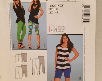 Burda Style Pattern 7382 pants/leggings US Size 6-16  New un-cut 2011