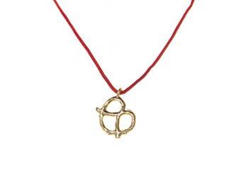 Pretzel Necklace - 16k Gold Plated Charm Pendant Necklace - You Pick Cord / Chain