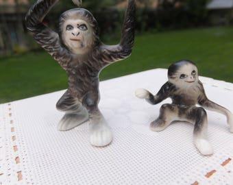 Miniature Ceramic Sloths, Collectible Ceramic Sloths, Bone China Sloths