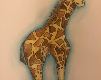 Giraffe Illustration.