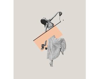 """Print - Collage digital """"Diagonal dance"""""""