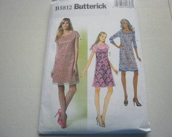 Pattern Ladies Slip and  Dress 4 Styles Sizes 6 to 14 Butterick 5812