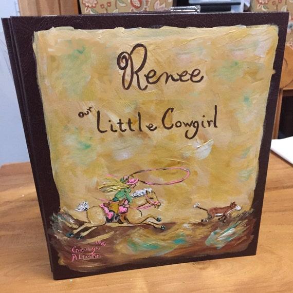 Little Cowgirl Calf Roper Baby Memory Book