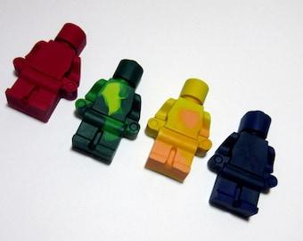Set of 4 Large Lego Men Crayons