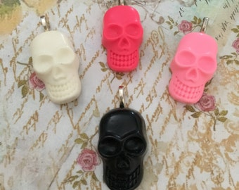 Skull Pendant Necklace Goth Punk