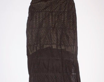 Black long dress with suspenders size 42