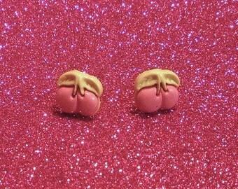 SALE Pink Cherry Earrings