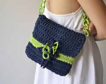 Purse bag crochet for woman, Bag in cotton for summer