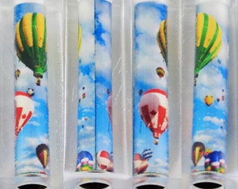 Pen Blank HotAirBalloon3/Alumilite/Tube In/Acrylic/Balloon/Flying/Ballooning/Sunshine/Clouds/Floating