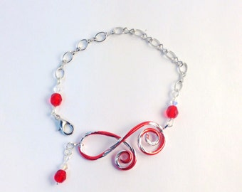 Wire Wrapped Candy Stripe Bracelet