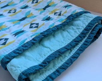 Organic Cotton Modern Quilt - Baby, Toddler, Kid