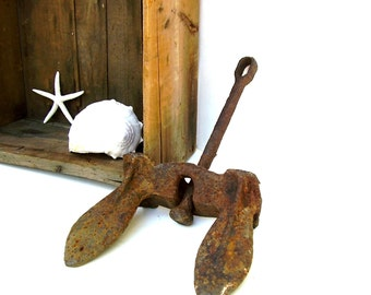 Ship Anchor Nautical Decor Sailing Boat Anchors Salvage Vintage Large Cast Iron Antique Ships Anchor