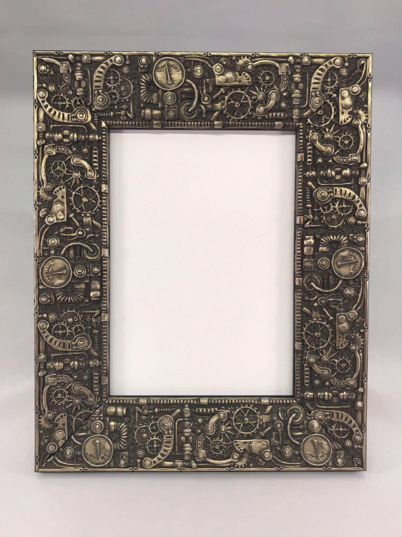 Steampunk picture frame silver 3x5 4x6 5x7 8x10 11x14 16x20 1800 jeuxipadfo Choice Image