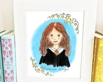 ON SALE Hermione Granger print - Harry Potter wall art - HH1