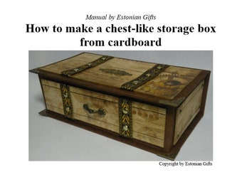 PDF eBook manual how to make a cardboard box with chest-like design, DIY
