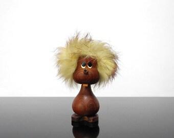 Little Teak man figurine / scandinavian / Bojesen and Bolling Era / Vintage