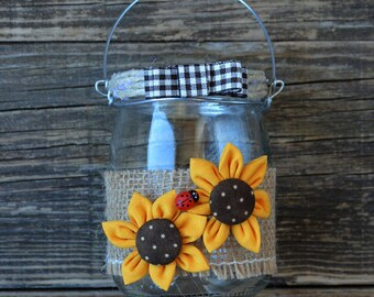 Country style candle holder jar mod. 1