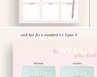 weekly planner, weekly schedule, printable planner, planner printable, planner insert, planner pages, wall planner weekly printable