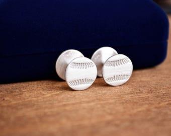 Baseball Cufflinks / Softball Cufflinks / Groom Gift / Pitcher Gift / Coach Gift / Sports Cufflinks / Best Man Gift / Mens Cufflinks