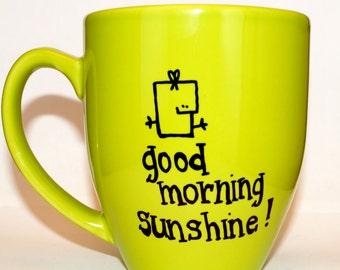 Hand Drawn Good Morning Sunshine! Mug (Customizable)