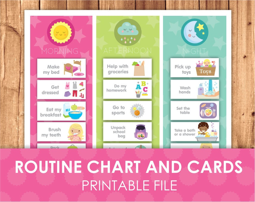 daily schedule cards printable