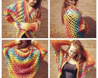 Crochet Fall Bonfire Shrug