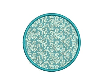 Circle Applique Frame Machine Embroidery design. 6 sizes. Instant download